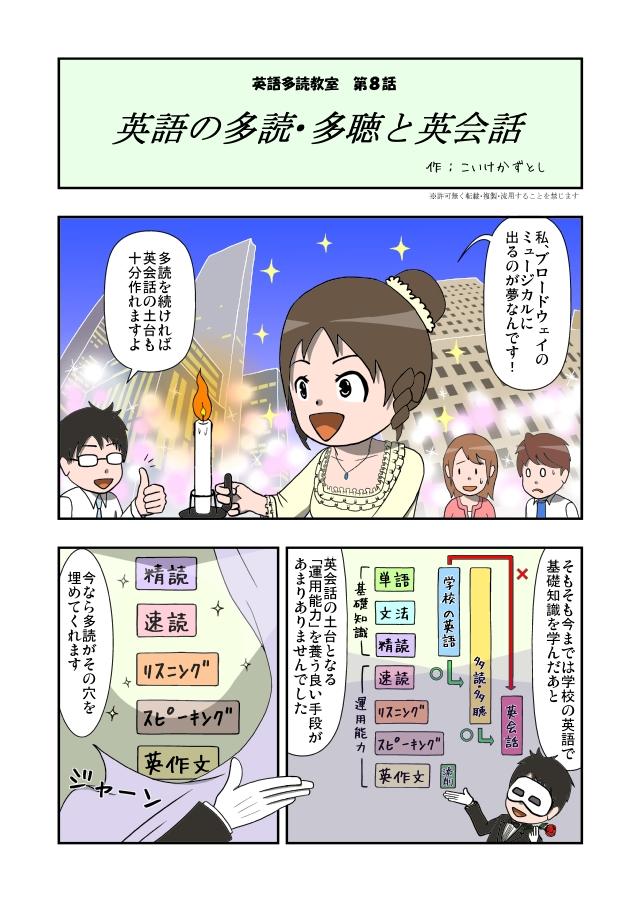 マンガ英語多読教室8-1